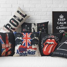 Decorative cushion cover/american style pop art cover/customized size cushion sham