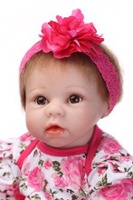 High Quality Simulation Babydoll Imported Mohair Doll Silicone Vinyl Toys Soft Cotton Body Children Birthday Present