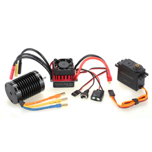 GoolRC F540 4370KV Brushless Motor S-45A ESC with 6.0kg Metal Gear Servo Upgrade Brushless Combo Set for 1/10 RC Car Truck(China)