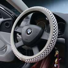 anti-slipped Luxury velvet cotton ice silk universal car steering wheel cover car accessories