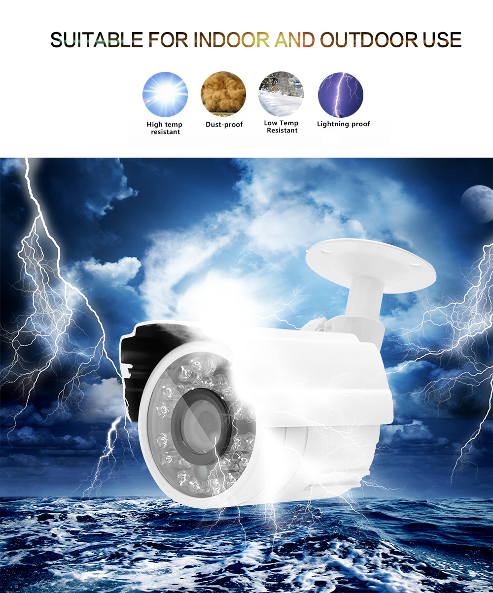 Wistino 1080P Mini AHD Camera Kits 4CH Digital Video Recorder DVR Kit CCTV Security Analog Camera Outdoor IR Video Surveillance (12)