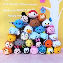 2017Newest Tsum Tsum Mini 9cm Plush Toys Screen Cleaner cartoon soft stuffed dolls keychain pendant accessory for Christmas gift