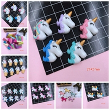 Free Shipping!! Resin New Arrival Adorable Unicorn Horse Hot Selling Unicorn Horn for Crafts Making, Scrapbooking, DIY(China)