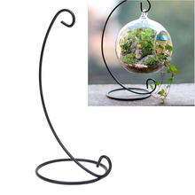 Hanging Holder Crystal Terrarium Container Without Glass Ball Vase Pot Iron Stand Holder Decoration Home Decor-P101