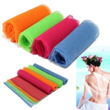 Nylon Mesh Bath Shower Body Washing Clean Exfoliate Puff Scrubbing Towel Cloth(China)