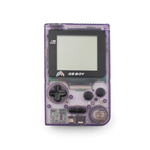 "Kong Feng GB Boy Classic Pocket Handheld Game Console 2.45"" Game Player with Black and White display screen Color Clear Purple"