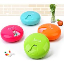 Healthy PP Medical Kit Portable Rotation Weekly Rotating Pillbox Travel Pill Case Medicine Box Drugs Pill Container 7 Days 9 CM