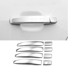 2016 Car Styling 8pcs/set Car Sticker Stainless steel trim Door Handle Cover For VW 6th JETTA Sagitar Special Modification Part