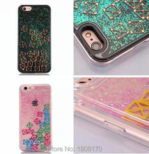 Magical Quicksand Liquid Tetris Star Dynamic Hard Case For iPhone 7 I7 6 6S plus I6 Bling Glitter Square Phone Skin Cover 100pcs