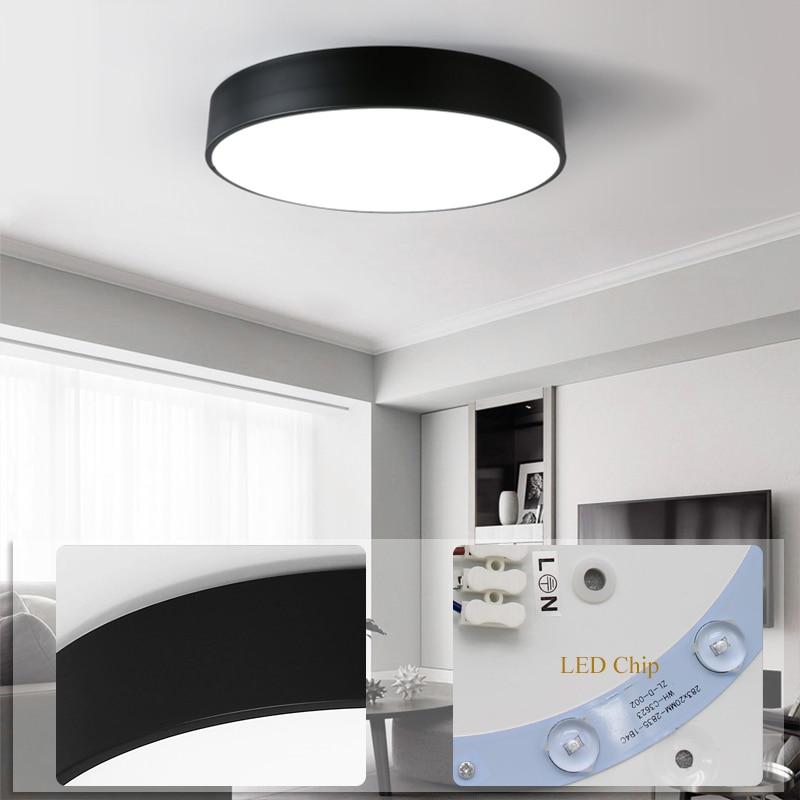 Black-round-led-ceiling-light