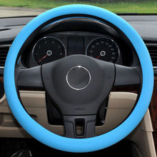 Car-styling Silicone Steering Wheel Skin Cover For Volkswagen vw Jetta Tiguan POLO Passat CC Golf GTI R20 R36 EOS Scirocco