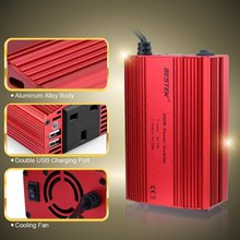 300W Modified Sine Wave Power Inverter 12V 220V 5V 3.1A Dual USB Inverter 300W Car Power Converter DC To AC Invertor 220V BESTEK(China)