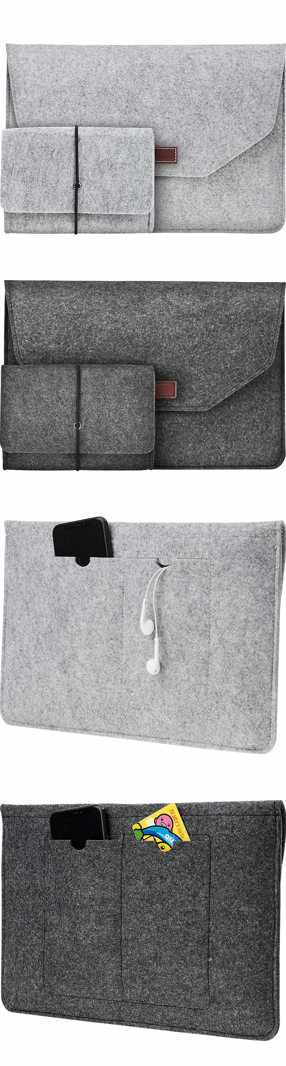 Soft For Macbook Air 13 Retina 13 Laptop Sleeve Wool Flet Case For Macbook Retina Pro 12 13 15 Touch Bar Laptop Case Mouse Bag  (1)