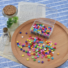 Looen Brand 500Pcs/box Multicolor 6mm Round Resin Mini Tiny Buttons Sewing Accessories Embellishment Plastic BUTTON Scrapbooking(China)