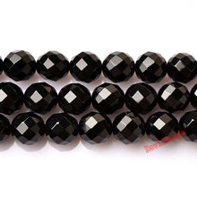 Factory Price Faceted Black Onyx Agat Stone Beads 4 6 8 10 12MM Pick Size For Jewelry Making(China)