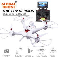 Global Drone X183 RC Helicopter Drone DUAL GPS dron FPV Follow me RC Quadcopter Toys can carry with 5.8G 720P HD Camera(China)