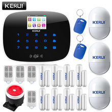 Wireless TFT LCD Touch Screen GSM Alarm System Autodial Home House Office Intruder Security Guard+RFID