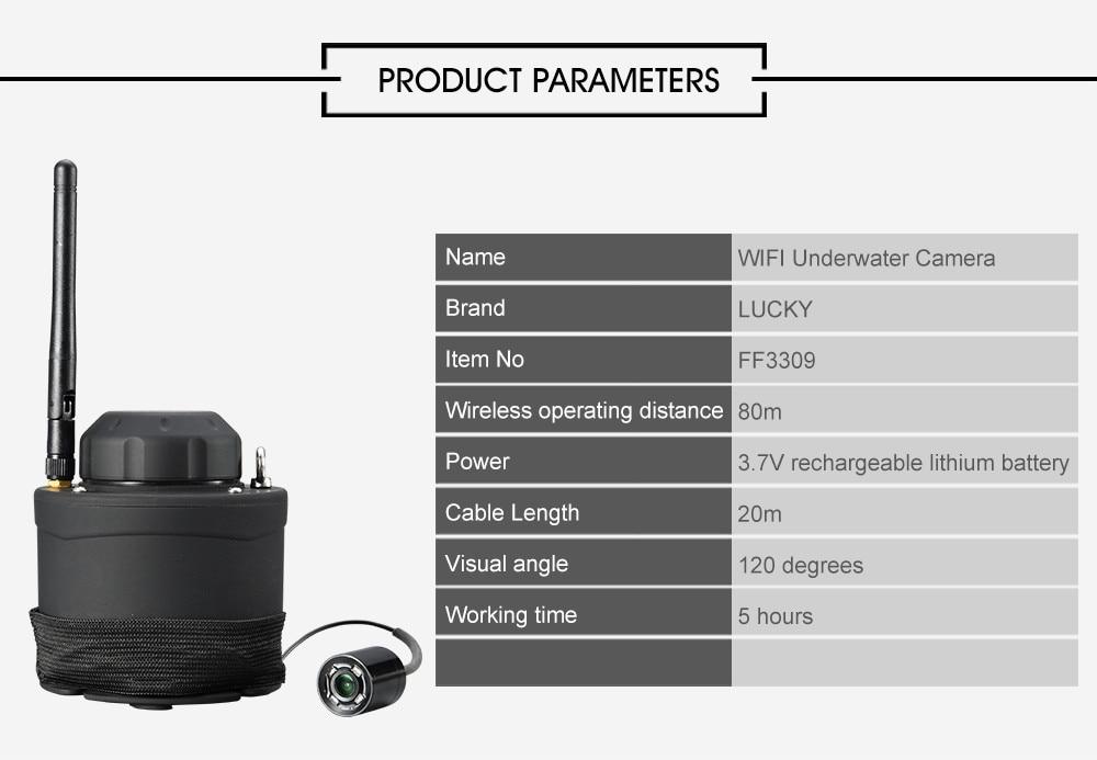 LUCKY Wifi Underwater Fishing Camera & Inspection 80m Wireless Operating Range Underwater Camera For Fishing FF3309 fishcam (3)