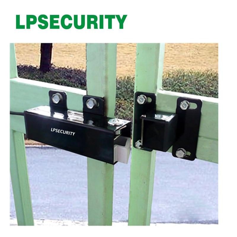 LPSECURITY 24VDC OUTDOOR WATERPROOF Electric Lock drop bolt for Automatic Swing Gate DOOR Opener Operator<br>
