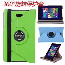 "New Rotating 360 Degree Luxury Rotary Folio Stand Leather Case Protective Cover For Dell Venue 8 Pro Windows 8.1 8"" Tablet"
