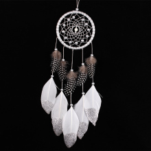 Silver Color Dream Catcher Car Wall Door Hanging Home Decoration Ornament Handmade Gift Accessories(China)