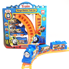 1 Set Kids Baby Interesting Electric Anime Machines Railway Trains Model Vehicles Toys Gifts for Children Boy Christmas Party(China)