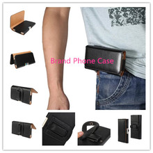 Black Holster Leather Smooth/rough Pattern PU Phone Belt Clip case for HTC Wildfire s /A510e Cell Phone Accessories Pouch Case