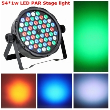 New Arrival Super Thin body design 54*1w RGBW LED Dancing Stage Effect Light DJ Club Disco Party Lighting Music stage Led light