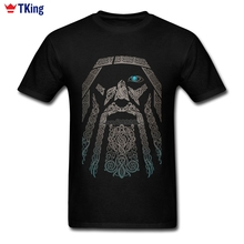 Custom Short Sleeve Boyfriend's Valhalla Odin Vikings T Shirt New Designed Family XXXL Tees Shirts