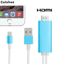 Colohas 2m HD TV Share Push Converter Cable for Apple iPad Tablet to HDMI Interface Device Projector with Micro USB