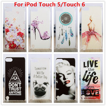 For Apple iPod Touch 5 Case /Luxury Crystal Diamond 3D Bling Hard Plastic Cover Case For  Apple iPod Touch 6 / Touch 5 Cases