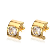 Gold-color Stud Earrings For Women 5A Cubic Zircon Stainless Steel Fashion Ear Jewelry Buy 2 Get 1 Free