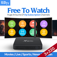 3G 32G S912 X98 PRO Android 6.0 Smart TV Box Arabic French Europe Channels IUDTV Code IPTV Subscription Canl Plus IPTV Top Box
