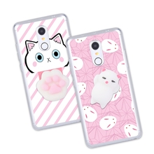 Squishy 3D Cat Phone Case For Xiaomi Redmi 3 3s 4 Pro Prime 4a 4x Note 3 SE Case Anti-stress Claw Kitty Gel Soft Silicone Cover