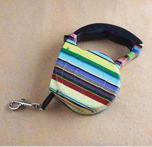 Hot 2017 Dog Leads Retractable Leashes Rainbow Color Big Size 5M Dog Walking Automatic Adjustable Collar Leashes Free Shipping(China)
