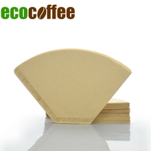 Free Shipping 102 Coffee Filters 100PCS Per Bag Coffee Dripper Filter American Coffee Maker Accessories Coffee Brewer V60 filter(China)