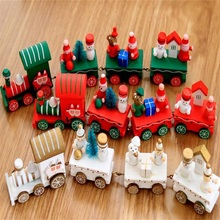 Wooden Christmas Decor Small Train Children Kindergarten Festive Supplies Natale ingrosso Christmas Decorations for Home
