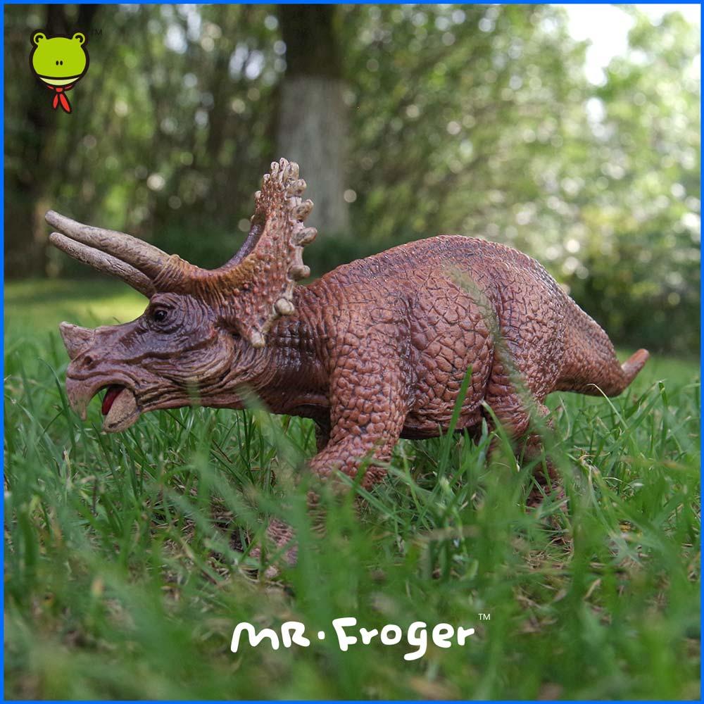 Mr.Froger Jurassic dinosaur Triceratops Model plastic PVC Classic Toys For Children Animal Model Dragon Delicat Toy Play Kid DIY<br><br>Aliexpress