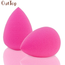Best Deal New 2PCS Beauty Pink Droplet Beauty Sponge Latex Free Blender Makeup Flawless Liquid Foundation Borla para empolvarse