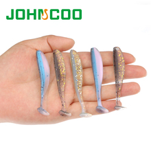 JOHNCOO New 12pcs Artificial Fishing Lure Soft Bait 7cm 1.85g Soft Fishing Lure Bass Fishing Shad Swimbait Silicone Bait