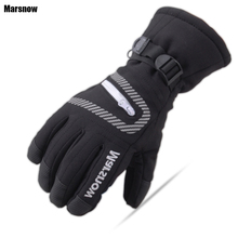 Dropshipping new ski gloves snowboard winter warm cotton thicken top quality waterproof Thermal gloves mens(China)
