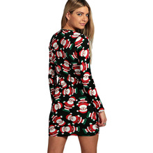 Magic Handmade Cute Unique Hot Dress Women Style Santa Claus Funny Long Sleeves(China)