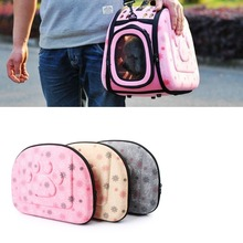 Hot New Dog Cat Travel Bag Portable Pet Travel Carrier Handbag Foldable Bag Travel Puppy Carrying Backpacks Mesh Shoulder Bags