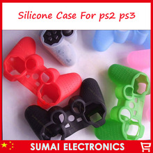 5pcs Silicone Case Skin Cover For Sony PS3 PS2 Controller(China)