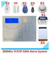 433Mhz/868mhz Wireless TCP/IP GSM Alarm system Home protection Security Alarm System with Web IE PC Control(China)