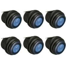 6pc OLS 12V DC 25A On/Off Rocker Switch IP65 Waterproof 3Pin SPST LED illuminated Low Price