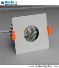 9W 12W Square LED Downlight CRI 80+Ra CREE COB Dimmable Ceiling Recessed Rectangular COB LED Light Fixture