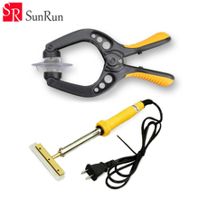 Universal Dismantling Clip tools Split screen LCD Screen Open Clamp With 60w-220v ELectric Hot Blade Glue Decal Shovel(China)