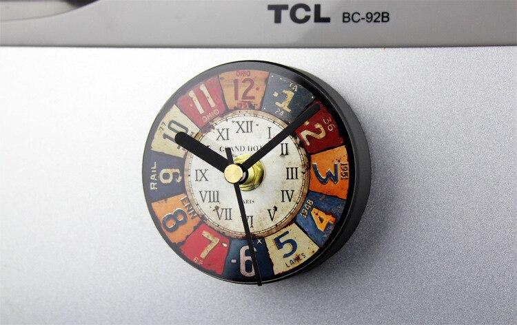 Kühlschrank Uhr Magnetisch : Großhandel europäische retro kühlschrank uhr kreative zinn malerei