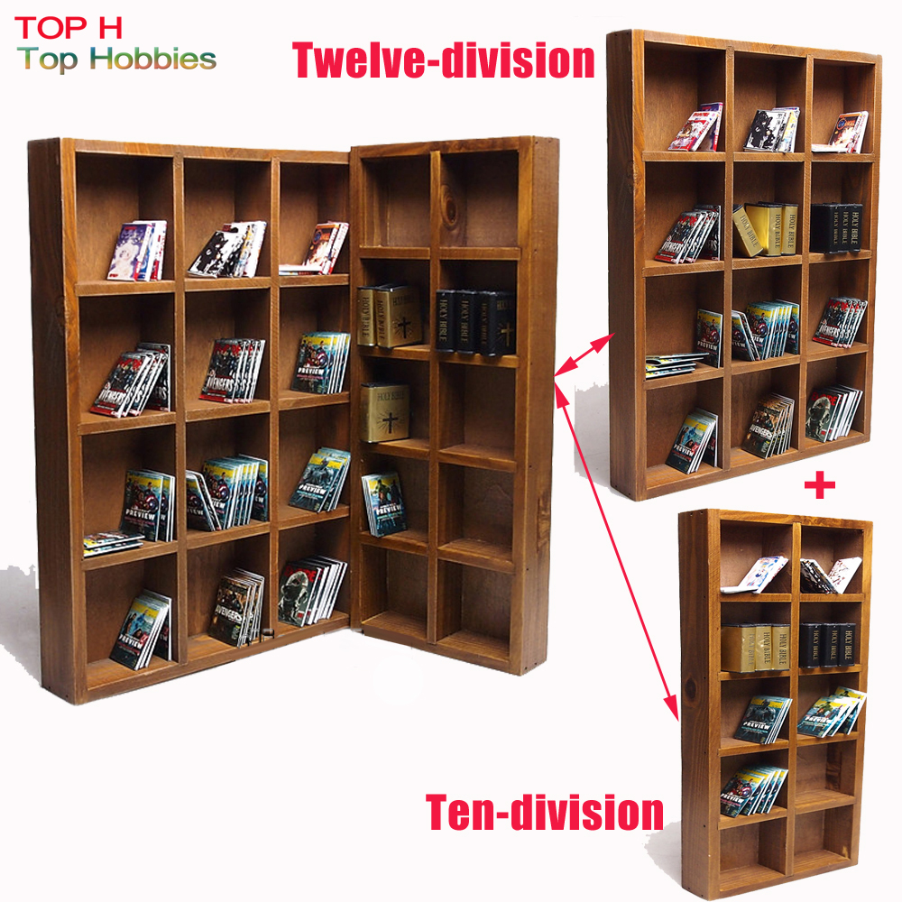 1/6 Soldier Model Scene dolls furniture accessories Ten-division bookcase combination can Townhouse Twelve vertical bookcase<br>